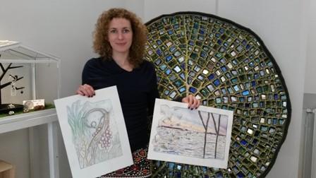 Emilie Baudrais : cette mosaïste passionnée veut « mettre de la couleur et faire un parcours itinérant dans sa commune »